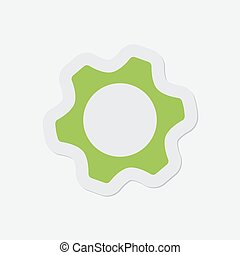 simple green icon - cogwheel