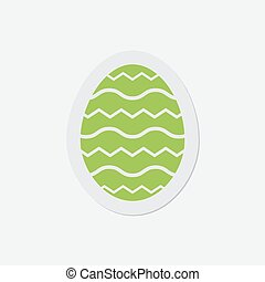 simple green icon - Easter egg