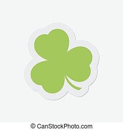 simple green icon - shamrock