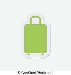 simple green icon - suitcase