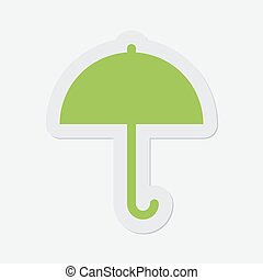 simple green icon - umbrella