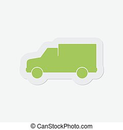 simple green icon - van