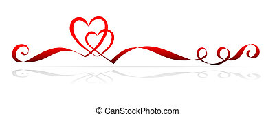 simple heart - illustration of twisted bands forming two...