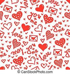 hearts seamless vector pattern