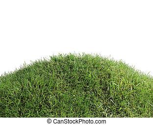 simple, herboso, colina, recorte