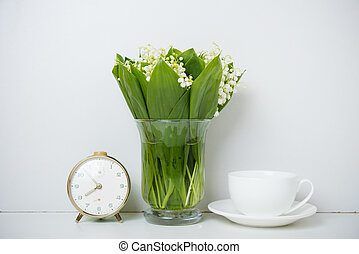 home decoration, lilies of the valley
