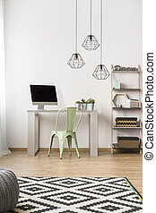 Simple home office idea - Light home office in new style...