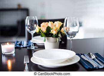 Simple home table setting