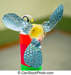 Simple homemade propeller made by a child