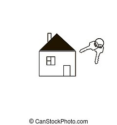 Simple house and keys.