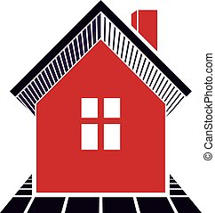 Simple house icon for graphic design, mansion conceptual...