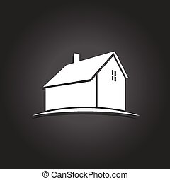Simple House icon. Vector icon