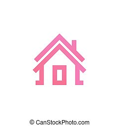 Simple house outline logo template