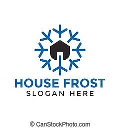 Simple house real estate logo design template