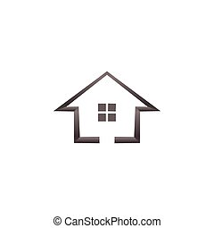 Simple house real estate logo template vector