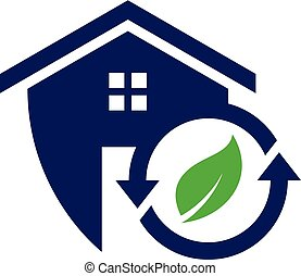 Simple housing and real estate icon recycle for web icon or mobile APP
