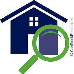 Simple housing and real estate icon search for web icon or mobile APP