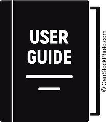 simple, icône, utilisateur, style, guide