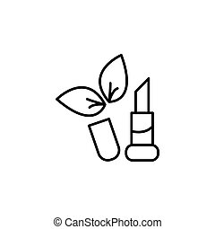 Simple icon lipstick. vector illustration black on white background