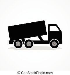 Simple icon of a dump truck
