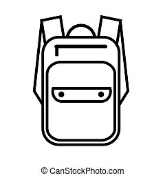 Simple icon with a backpack