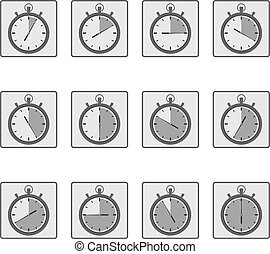 Simple icons of timers