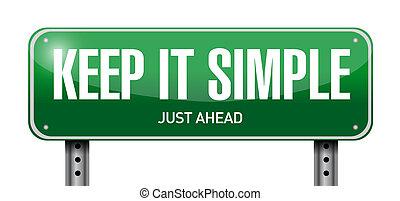 simple, il, illustration, signe, rue, conception, garder