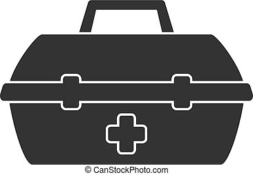 simple, illustration médicale, kit, vecteur, design., icône