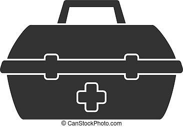 simple, illustration médicale, kit, vecteur, design., icône