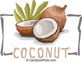 Simple illustration of coconut.