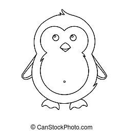 Simple illustration of cute winter penguin for Christmas holiday