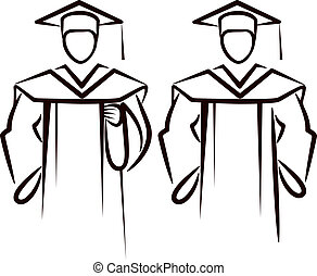 simple illustration with a graduate