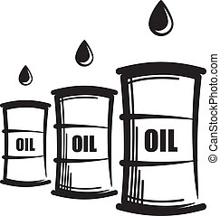 simple illustration with oil barrels