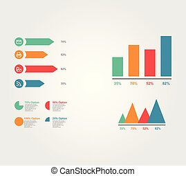Simple infographic vector concept