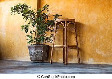 Simple interior design scene