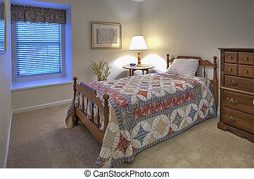 simple, invité, chambre à coucher