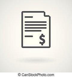 Simple invoice icon, vector