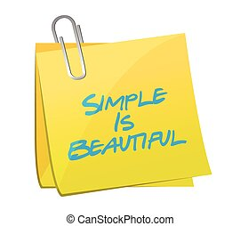 simple is beautiful post message illustration design over a...
