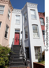 Simple Italianate Style Row House Home, Capitol Hill, Washington DC