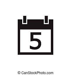 simple kalender icon black color
