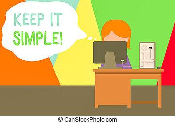 simple., kantoor, tekst, photo., informatietechnologie,...