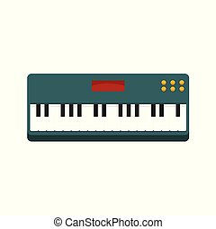 Simple Keyboard Piano Vector Illustration Graphic
