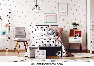 Simple kids room with rugs
