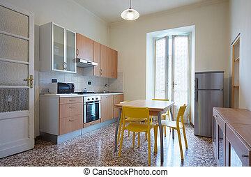 Simple kitchen interior