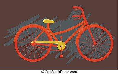 Simple Ladies Cycle Vector