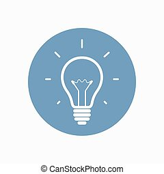 Simple light bulb icon