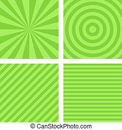 Simple lime color striped pattern set - Simple abstract lime...