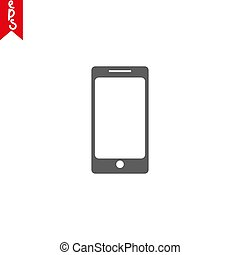 Simple Line of Cell Phone Vector Icon