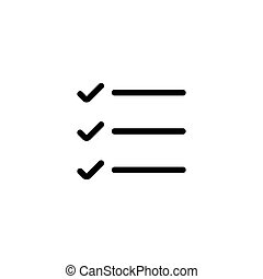 simple, liste, ligne, liste contrôle, icône