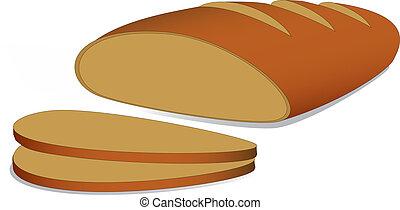 loaf - simple loaf vector eps 10